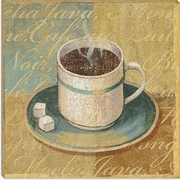 iCanvas ''Coffee Blend II'' by John Zaccheo Painting Print on Canvas; 12'' H x 12'' W x 0.75'' D