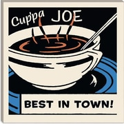 iCanvas Cup Pa Joe Best in Town Advertising Vintage Poster; 18'' H x 18'' W x 1.5'' D