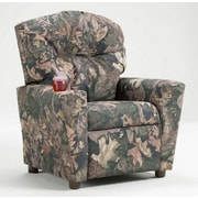 Brazil Furniture Home Theater Children's Recliner; Encore Harvest
