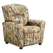 Brazil Furniture Home Theater Children's Cotton Recliner w/ Cup Holder; Encore Flooded Timber