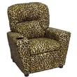 Brazil Furniture Home Theater Children's Recliner; Vinyl Taupe