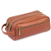 Claire Chase Leather Travel Kit; Saddle