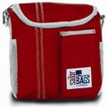 SailorBags Lunch Bag; True Red with Grey Trim