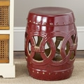 Safavieh Ceramic Double Coin Stool; Abby Red