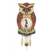 Black Forest Owl Wall Clock
