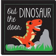 iCanvas ''Dinosaur'' Canvas Wall Art by Erin Clark; 37'' H x 37'' W x 1.5'' D