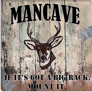 iCanvas ''Mancave II'' by Mindy Sommers Vintage Advertisement on Canvas; 12'' H x 12'' W x 1.5'' D
