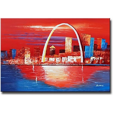 White Walls Gateway to the West Framed Painting Print on Wrapped Canvas