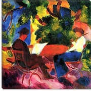 iCanvas ''At the Garden Table'' Canvas Wall Art by August Macke; 18'' H x 18'' W x 0.75'' D