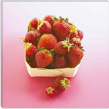 iCanvas Basket of Strawberries Photographic Canvas Wall Art; 37'' H x 37'' W x 1.5'' D