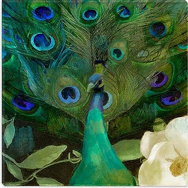 iCanvas 'Aqua Peacock' by Color Bakery Painting Print on Canvas; 37'' H x 37'' W x 1.5'' D