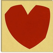 iCanvas Modern Art Cut-Out Love Graphic Art on Canvas; 26'' H x 26'' W x 0.75'' D