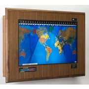 Geochron Geochron Boardroom Model World Wall Clock; Mahogany, Gold Trim