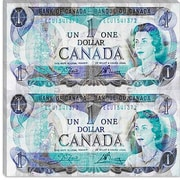 iCanvas Canada One Dollar 4 Graphic Art on Canvas; 18'' H x 18'' W x 1.5'' D