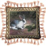Fine Art Tapestries Lapin Throw Pillow