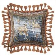 Fine Art Tapestries Verdure with Animals Cotton Throw Pillow
