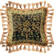 Fine Art Tapestries Tree of Life Midnight Throw Pillow