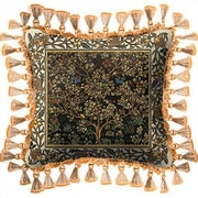 Fine Art Tapestries Tree of Life Umber Throw Pillow