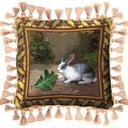 Fine Art Tapestries Lapin Lettuce Throw Pillow