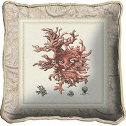 Fine Art Tapestries Coral II Throw Pillow