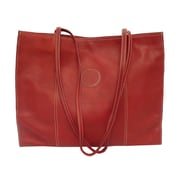 Piel Carry-All Market Shopping Tote; Red