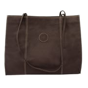 Piel Carry-All Market Shopping Tote; Chocolate