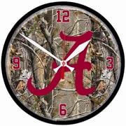 Wincraft Collegiate 12.75'' NCAA Wall Clock; Alabama - Camo