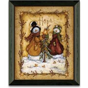 Timeless Frames Snow Folk Hope Christmas Holiday by Mary Ann June Framed Graphic Art