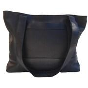Piel Top Zip Tote Bag; Black