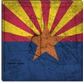iCanvasArt Arizona Flag, Old Western Map Grunge Graphic Art on Canvas; 12'' H x 12'' W x 0.75'' D