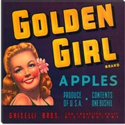 iCanvas Golden Girl Apples Vintage Crate Label Poster; 18'' H x 18'' W x 0.75'' D