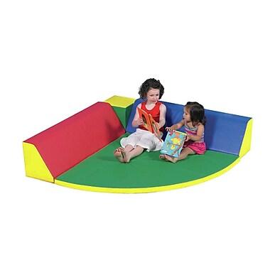 Children's Factory Quarter Circle Restful Corner Kids Novelty Chair