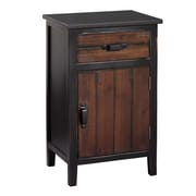Gallerie Decor Adirondack 1 Drawer Cabinet; Espresso