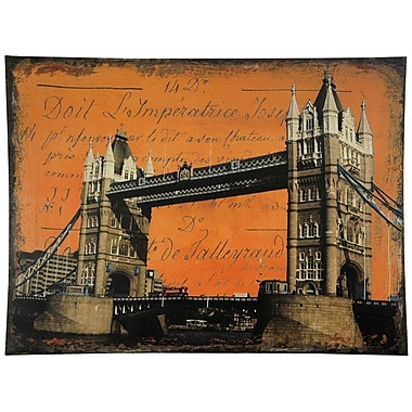 Oriental Furniture London Bridge Graphic Art on Wrapped Canvas