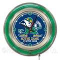 Holland Bar Stool NCAA 15'' Double Neon Ring Logo Wall Clock; Notre Dame-Leprechaun