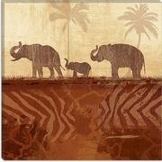iCanvas ''Jungle Family II'' Canvas Wall Art by Veronique; 26'' H x 26'' W x 0.75'' D