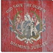 iCanvas Canada Diamond Jubilee Flag, 1987 Vintage Advertisement on Canvas; 26'' H x 26'' W x 1.5'' D