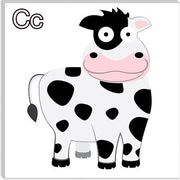 iCanvas Kids Art C is for Cow Canvas Wall Art; 12'' H x 12'' W x 1.5'' D