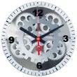 Maples Clock 10'' Moving Gear Wall Clock