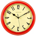 Ashton Sutton Retrospective 10'' Wall Clock; Red
