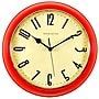Ashton Sutton Retrospective 10'' Wall Clock; Red