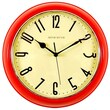Ashton Sutton Retrospective Wall Clock; Red
