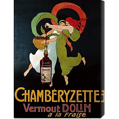 Global Gallery 'Chamberyzette' Vintage Advertisement on Wrapped Canvas