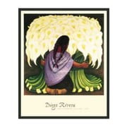 Frames By Mail 'The Flower Seller' by Diego Rivera Framed Painting Print