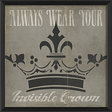 The Artwork Factory Always Wear Your Invisible Crown Framed Graphic Art; White