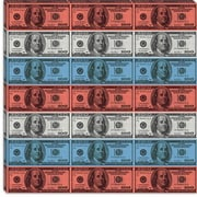 iCanvas U.S. Flag One Hundred Dollar Bill, Stripes Graphic Art on Canvas; 18'' H x 18'' W x 1.5'' D