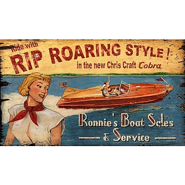 Vintage Signs Chris Craft Vintage Advertisement Plaque
