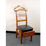 Proman Manchester Chair Valet Stand; Light Walnut