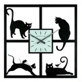 Ashton Sutton 15.5'' Four Cats Wall Clock