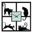 Ashton Sutton 15.5'' Four Cats Wall Clock